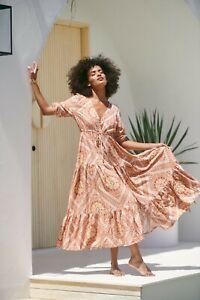 JAASE WOMEN'S TESSA MAXI DRESS PALOMA PRINT GENEROUS SIZING