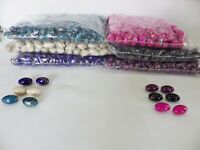 JOB LOT: 500g pack (160 beads) Acrylic Large Rice Grain Beads 22.75mm x 14.4mm