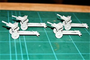 ZVEZDA type  1/72 Soviet M-30 122mm Howitzer x4 maid and ready to paint