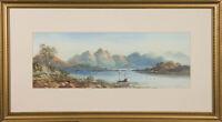 Edwin Earp (1851-1945) - Early 20th Century Watercolour, Lake with Mountains