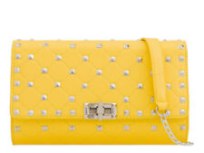 Ladies Faux Leather Studded Clutch Bag Quilted Evening Bag Handbag Purse KL2167