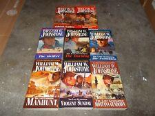 WILLIAM JOHNSTONE~VINTAGE COMPLETE LAST GUNFIGHTER SERIES~23 BOOK COLLECTION