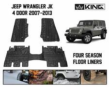 King 4WD four-Season full set Floor Mat Liners 07-13 FOR Jeep Wrangler Unlimited
