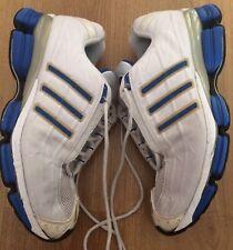 Hommes Adidas Adiprene Torsion Chaussures De Course Blanc Taille 10 bon état