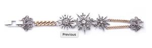 Multi Crystal Star Bracelet