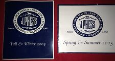 2 Vintage J Press Catalogues YALE IVY TRAD PREPPY Fall/Win 2004, Spring/Sum 2005