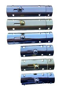 Convex Satin Nickel Polished Chrome Brass Bathroom Door Slide Bolt High Quality