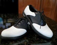 Nike Youth Golf Shoes Black White Size 2 Euc Boys Girls