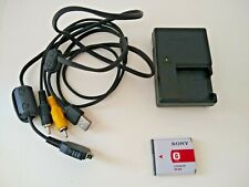 Sony Battery charger BC-CSGC w/ battery and USB- A/V data cable for multi-use