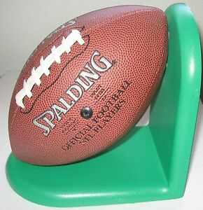 Spalding Football Bookend Wood Sport Decor Inmon Enterprises Youth Size Ball