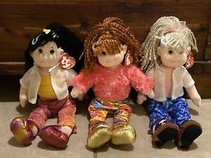 2001 - 3 TY Beanie Boppers Dolls LOT