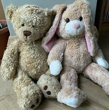 BUILD A BEAR WORKSHOP CURLY BEAR & BUNNY WITH CLOTHES
