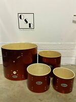 Ddrum Diablo Drum Shells / Fusion Sizes 4 Piece Bare Wood / Red