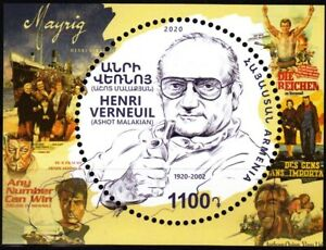 ARMENIA 2020-07 Famous People, Theatre Cinema: Henri Verneui, MNH