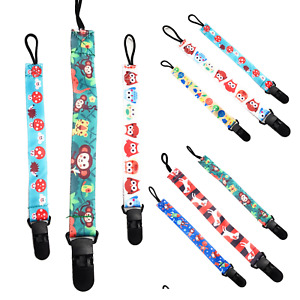 SET of 3 Dummys Clips Holder Strap Soother Pacifier chain for baby feed SPIRIUS