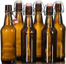Seal-Tight Fliptop Beer Bottles / Grolsch Bottles with Wire Swing Top Plastic -