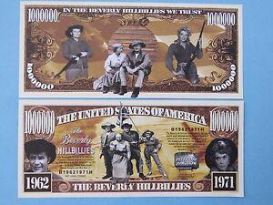 BEVERLY HILLBILLIES TV Show ~ $1,000,000 One Million Dollar Bill ~ USA Comedy