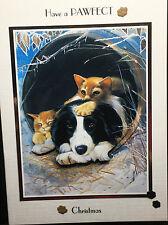 HANDMADE PERSONALISED DOG & CAT CHRISTMAS CARD