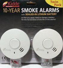 Kidde 10 Year Smoke Alarms with Sealed-in Lithium Battery 2 Pack Twin new