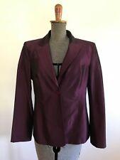 Vintage plum burgundy blazer jacket work cocktail wedding size 10