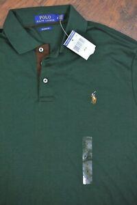 NWT Polo Ralph Lauren Soft Cotton Polo Shirt Green Men's Medium M