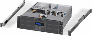 "3U (Fan LCD) (24"" Rail Set) (6x5.25""+4xHDDs) (Rackmount Chassis) (EATX Case) NEW"