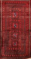 Excellent Vintage Balouch Afghan Oriental Area Rug Hand-Knotted Wool Carpet 4x6