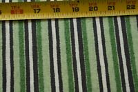 "30"" Long, Green Black & White Striped Quilt Fabric, Windham/Whistler, N5141"