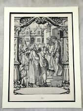 Antique Print Rare Holbein Stained Glass Panel Ecce Homo Jesus Passion of Christ