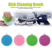 4Pcs Silicone Dish Washing Sponge Scrubber Kitchen Cleaning antibacterial Tools