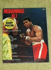 VERY RARE 1975 Muhammad Ali Cassius Clay boxing poster 36 x 22