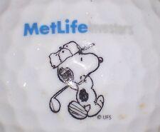 (1) Metlife Logo Golf Ball Insurance (Snoppy & Metlife Investments)