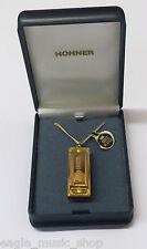 Enchapado En Oro Hohner Little Lady reproducibles Miniatura armónica en Collar