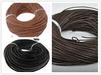 1.5mm-4mm Genuine Leather Cord Thread Bracelet Necklace Jewelry Making 10M