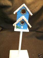 #B0104 - INDOOR DECORATIVE HOLIDAY BIRDHOUSE WITH WREATH TREE HAND-PAINTED -WOW!
