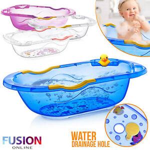 Large Clear Baby Bath Tub Plastic Bathtub Kids New Born Bathing Shower Toddler