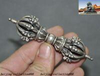 Old Tibetan Tantra Buddhism Tibet silver Pestle Vajra Dorje Vajra phurpa Dagger
