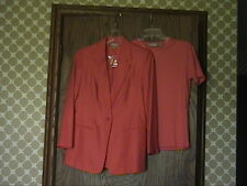 New Nordstroms Silk Blazer Jacket 2 Short Sleeve Knit Tops Black/ Orange S & 2P