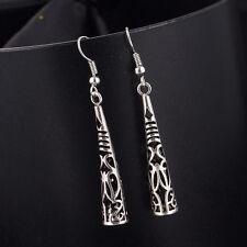 Fashion Women Bohemia Long Hollow Silver Plated Tassel Drop Dangle Earring
