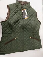 Women's Weatherproof Faux Fur Pine Green Quilted Vest Size XXLarge New w tag 2XL