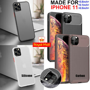 Case for iPhone 11 11 Pro 11Pro Max Carbon Fibre Silicone ShockProof TPU Cover
