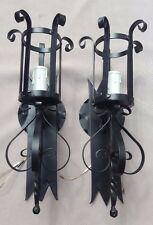 Wrought Iron Sconces, Spanish Style, New Wiring, New Candle Covers, Guaranteed