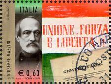 2011 italia repubblica 150° Unità I Protagonisti Giuseppe Mazzini usata