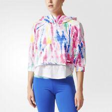 adidas by Stella McCartney Hooded Tie Dye Cropped Windbreaker Jacket Size XSmall