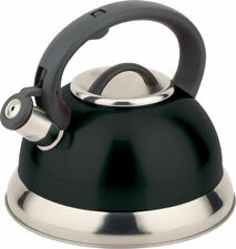 Smart Stainless Steel Stove Top Induction Gas Whistling Kettle 3.0 L Black UK