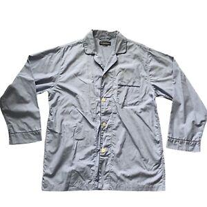 Brooks Brothers Blue Pajama Sleep Shirt Top, Mens size extra large?