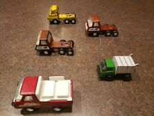 Vintage Lot of 5 Small Trucks Semi Tonka Garbage Buddy Coca Cola Pressed Steel