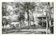 Wisconsin, WI, Burlington, Vogel's Residence, Browns Lake Postcard