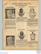 1936 PAPER AD Drip Tea O Lator Coffee Tea Pots Standard Sanitary China Vitreous