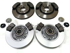 Pair Solid Rear 1.4 1.4D 2012 on 249mm Set QH New PEUGEOT 208 2x Brake Discs